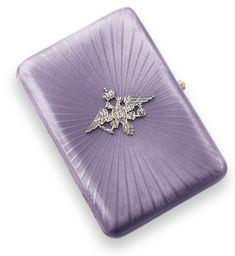 A Fabergé jeweled gilded silver and guilloché enamel Imperial presentation cigarette case, workmaster August Hollming, St. Petersburg, 1908-1917   Lot   Sotheby's