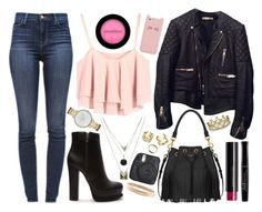 """""""For us"""" by iarsotelo on Polyvore featuring Belleza, Balenciaga, J Brand, Erica Courtney, Forever 21, Gathering Eye, Kate Spade, Yves Saint Laurent, H&M y Bourjois"""