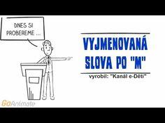 Vyjmenovaná slova po M Animované výukové HD video - YouTube Youtube, Room Ideas