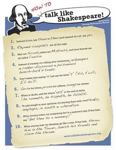 Talk Like Shakespeare