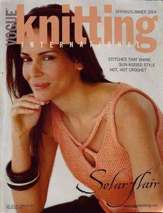 VOGUE KNITTING Spring Summer 2004 Crochet Tankini Bikini Lace Tops Cardigan  #VogueKnittingInternational