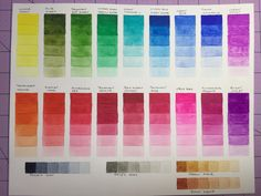 Winsor & Newton swatches Watercolor Pallet, Watercolor Paintings, Pro Markers, Color Mixing Chart, Watercolour Tutorials, Color Swatches, Natural History, Art Supplies, Watercolors