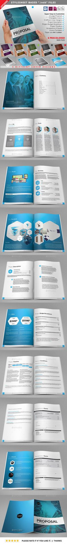 Clean Business Proposal Vol2 Template, Of and A business - best proposal templates