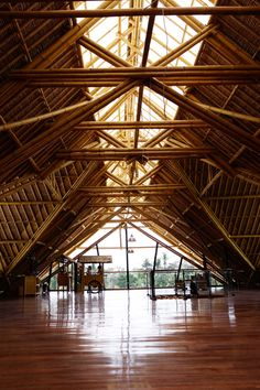 "The world's largest commercial bamboo structure produces ""raw"" chocolate. It's operated by Big Tree Farms in Bali."