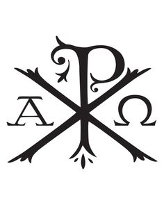 Tattoo #1: Chi Rho, the oldest known christogram in existence that begins with Alpha and ends with Omega. Description from pinterest.com. I searched for this on bing.com/images