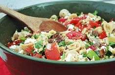 Orecchiette Pasta, Fresh Tomatoes, Sweet Italian Sausage, Colorful Peppers, Basil, Feta Cheese and Toasted Walnuts all add up to a wonderful mouthful of garden fresh flavor.