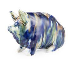 A SMALL AND RARE WEMYSS WARE PIG CIRCA 1890 16CM LONG - SALE 473 - LOT 62 - LYON…