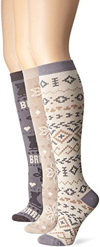 Muk Luks Women's 3 Pair Knee High Ice... for only $25.45