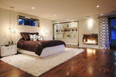 Gemütliches Schlafzimmer im Keller einrichten   Teppich schlafzimmer ...