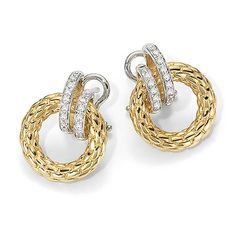 Fope ~ Yellow Gold & Diamond Drop Earrings