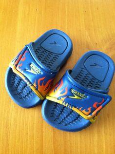 Little boy's Speedo flame sandals...