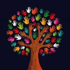 Multi social solidarity tree hands Clipart is part of Crafts for kids - Colorful diversity tree hands illustration Vector illustration layered for easy manipulation and custom coloring Kids Crafts, Preschool Crafts, Fall Crafts, Diy And Crafts, Arts And Crafts, Paper Crafts, Kids Garden Crafts, Flower Crafts Kids, Kids Diy