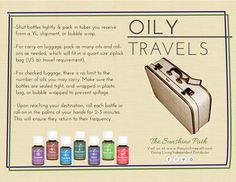Tips for Traveling with Essential Oils