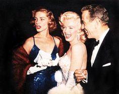 Lauren Bacall, Marilyn Monroe and Humphrey Bogart in the 1950s