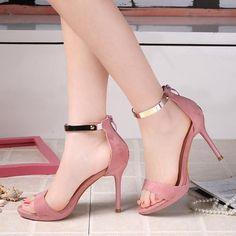 Women shoes, Women shoes direct from Hefei Zhongmai Trade Co. High Heels Outfit, Sexy High Heels, Frauen In High Heels, Womens High Heels, Sandals Outfit, Strappy Shoes, Ankle Strap Sandals, Shoes Heels, Heeled Sandals