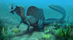 Spinosaurus 2020 by MALvit on DeviantArt Dinosaur Photo, Dinosaur Funny, Dinosaur Crafts, Dinosaur Art, All Dinosaurs, Jurassic World Dinosaurs, Jurassic Park World, Prehistoric World, Prehistoric Creatures
