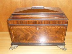 Regency Mahogany Tea Caddy c. 1830
