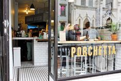 Porchetta - this little shop serves a porchetta sandwich that may seem a little pricey until you bite into the crispy, juicy meat stuffed in fresh bread. Also the burnt ends potatoes are a tasty side. In fact anything Sara Jenkins makes is good, so is her pasta restaurant down the street Porsena.