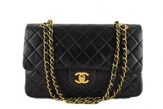 Fashion passes, style remains. The classic Chanel Lambskin flap bag.