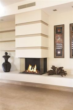 fantastic nice adorable cool elegatn simple 3 sided gas fireplace with nice glass made concept with white accent body design