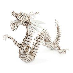 d-torso: Dragon White cardboard 3d building model puzzle, at 17% off!