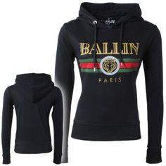 34f6020f58b Ballin Paris - Dames Sweater - Capuchon - Tijger - Zwart