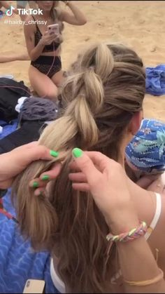 Hair Up Styles, Medium Hair Styles, Natural Hair Styles, Easy Hairstyles For Long Hair, Braided Hairstyles, Scrunched Hairstyles, Cute Cheer Hairstyles, Volleyball Hairstyles, Aesthetic Hair