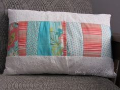 Nursery projects: patchwork pillow