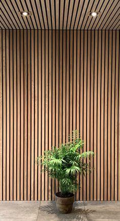 Wood Slat Wall, Wood Panel Walls, Wood Slats, Wood Paneling, Modern Wall Paneling, Wood Cladding Interior, Timber Cladding, Timber Feature Wall, Wall Design