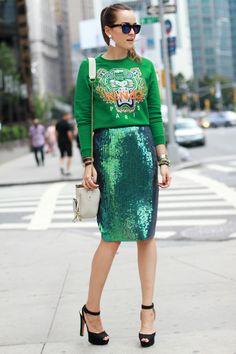 Groene Kenzo tijgerachtige trui