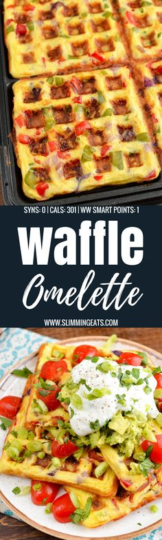 Slimming Eats Easy Syn Free Waffle Omelette - gluten free, vegetarian, Slimming World and Weight Watchers friendly (healthy egg rolls weight watchers) Weight Watchers Pancakes, Weight Watchers Breakfast, Weight Watchers Meals, Slimming World Vegetarian Recipes, Slimming World Recipes, Healthy Recipes, Free Recipes, Low Carb Fast Food, Sans Gluten