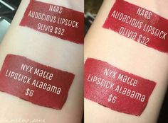 Beautiful red lipstick dupe shared by Let's see YOUR dupes! Tag them with for a chance to be featured! by dupethat Lipstick Palette, Lipstick Dupes, Drugstore Makeup, Red Lipsticks, Nars Dupe, Makeup Guide, Makeup Kit, Makeup Inspo, Lip Makeup