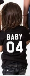 Family Matching Clothes 2017 Summer Fashion Solid O Neck Casual T-shirts Family Tees Shirts For DAD MOM KID BABY Funny T-shirt
