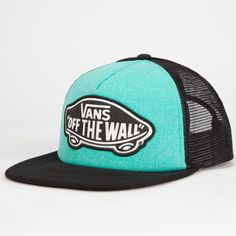 c8fea96f0f6df Vans Beach Girl Womens Trucket Hat Teal One Size For Women 25567303401  Gorras Camioneras