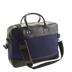 Billykirk For J Crew Padded Briefcase In Original Navy Mens Satchel Minimalist Bag