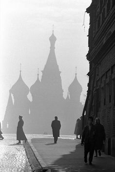 Burt Glinn  Moscow, Russia. 1961.  Saint Basil's Cathedral on Red Square.