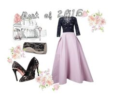 """My Style - Emmy Awards Outfit"" by adelinejaned ❤ liked on Polyvore featuring Carolina Herrera, Oscar de la Renta and Mascara"