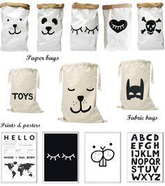 Tellkiddo : Déco adorable et utile, pour chambre d'enfant (Paper Bags, Poster, Print...)