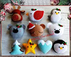 Christmas ornaments felt ornament Christmas felt Decor Christmas favors Christmas tree ornaments Gift for Christmas