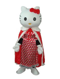Hello Kitty with Red Cloak Mascot Adult Costume