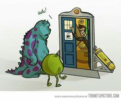 Mike, Sully meet the 10th doctor