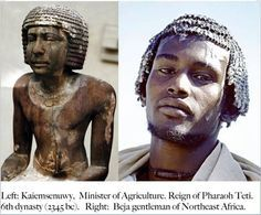 afar and beja people. Ancient Egypt was a BLACK race of people