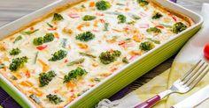 Recette de Quiche brûle-graisse Croq'Kilos aux poivrons, curcuma et brocoli. Facile et rapide à réaliser, goûteuse et diététique.