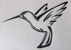 Pics For > Simple Hummingbird Tattoo Drawing