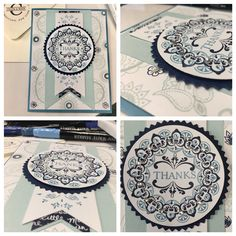 Make A Medallion meets Paisleys And Posies; Stampin Up