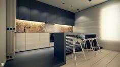 Koncepcja mieszkania w Stargardzie - zdjęcie od Oporski Architektura - Kuchnia - Styl Minimalistyczny - Oporski Architektura