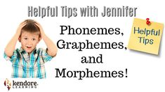 Learn something new with Kendore Learning! Jennifer Hasser explains the difference between a phoneme, grapheme, and morpheme. These three units form the buil. Speech Language Pathology, Speech And Language, Language Arts, Learning Centers, Student Learning, Spelling Help, 4th Grade Reading, Phonological Awareness, Teacher Notes