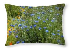 """Wouldn't you love to lie back on this beautiful """"Bachelor's Meadow"""" pillow? © 2009 RC deWinter Shown here as 20"""" x 14"""" Pinterest price shown not accurate."""