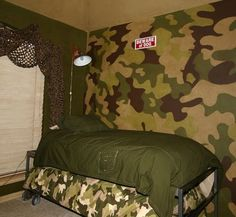 This would look so good in my son's room with his camo loft bed!!