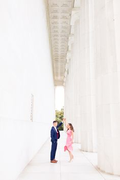 Formal DC engagement session at the Lincoln Memorial in Washington DC was captured by Taylor Rose Photography. This fall DC engagement session featured a Kate Spade style dress from Gal Meets Glam. Engagement Photo Outfits, Engagement Photo Inspiration, Engagement Shoots, Wedding Engagement, Jefferson Memorial, Lincoln Memorial, Rose Photography, Family Photography, Family Photo Sessions